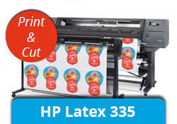 Imprimante HP Latex 335 impression découpe